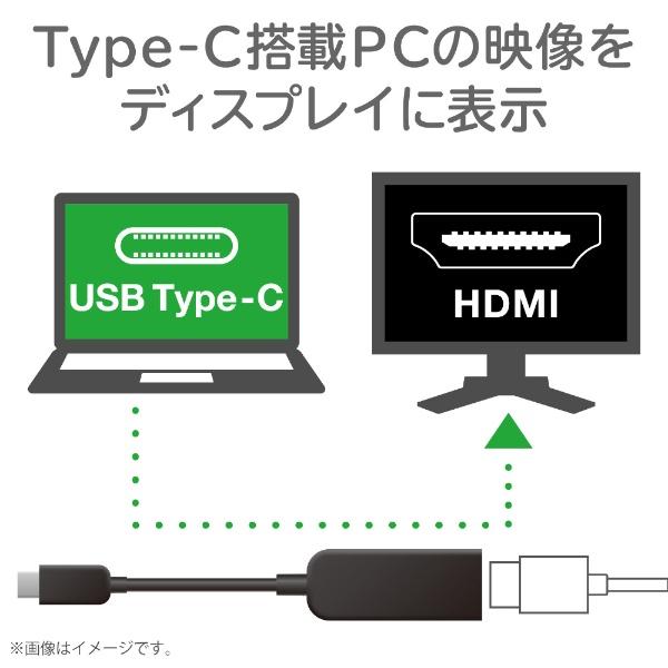 エレコムELECOM0.15m[USB-Cオス→メスHDMI4K]変換アダプタブラックAD-CHDMIQBK2[ADCHDMIQBK2]