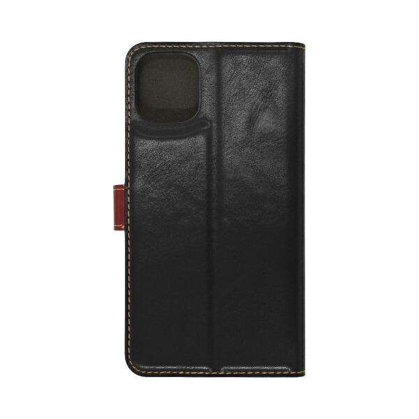 ラスタバナナRastaBananaiPhone11Pro5.8インチ薄型手帳ケース+COLOR5031IP958BOブラック×レッド