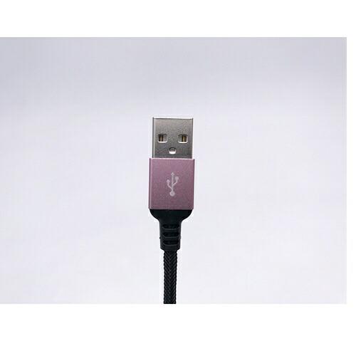 オズマOSMAmicroUSB⇔USB-A/通信・充電ケーブル/ナイロンメッシュケーブル1m/メタルコネクタメタルピンクBKS-UDSPAM10PKBKS-UDSPAM10PKメタルピンク[約1m]