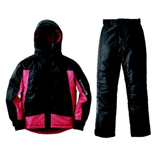 ロゴスLOGOSメンズレインウェア防水防寒スーツシースパロー(レッド/Lサイズ)30376412