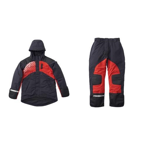 ロゴスLOGOSメンズレインウェアLIPNERプロモデル防水防寒スーツ(ブラック/Mサイズ)30370713