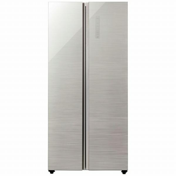 AQUAアクア《基本設置料金セット》AQR-SBS45J-S冷蔵庫ヘアラインシルバー[2ドア/観音開きタイプ/449L][冷蔵庫大型新品アクア][AQRSBS45J_S]