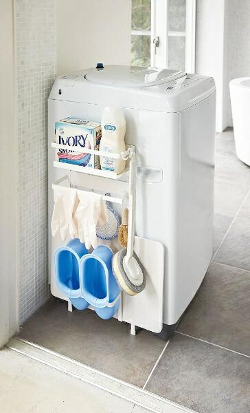 山崎実業Yamazakiプレート洗濯機横マグネット収納ラック(MagnetWashingMachineSideRackPlate)3309ホワイト