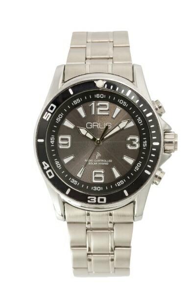 インテックボイス電波ソーラー腕時計GRS004-02ブラック
