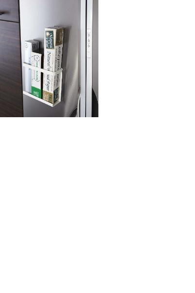 山崎実業Yamazakiプレートマグネットラップホルダー(MagnetWrapHolderPlate)2438ホワイト[2438]