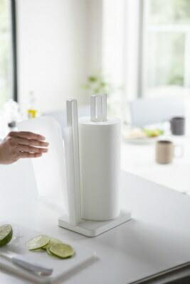 山崎実業Yamazakiプレート片手で切れるキッチンペーパーホルダー(KitchenPaperHolder)3260ホワイト[3260]