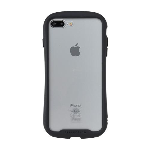HAMEEハミィ[iPhone8Plus/7Plus専用]iFaceReflection強化ガラスクリアケース41-907481ブラック