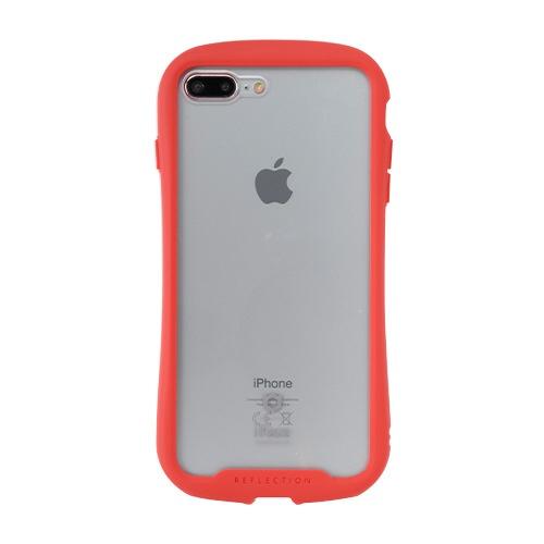 HAMEEハミィ[iPhone8Plus/7Plus専用]iFaceReflection強化ガラスクリアケース41-907498レッド