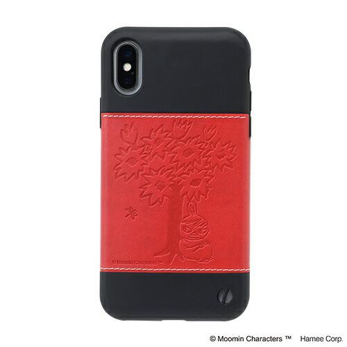 HAMEEハミィ[iPhoneXS/X専用]ムーミン/Zarfソフトケース276-912812木の下のリトルミイ/レッド