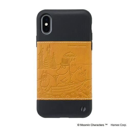 HAMEEハミィ[iPhoneXS/X専用]ムーミン/Zarfソフトケース276-912836ボート/キャメル