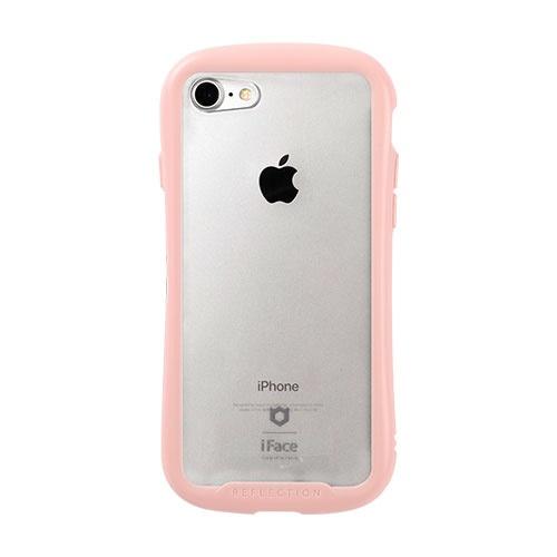 HAMEEハミィiPhoneSE(第2世代)4.7インチ/iPhone8/7専用iFaceReflectionPastel強化ガラスクリアケース41-914304ピンク