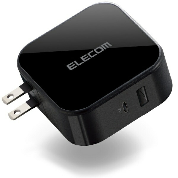 エレコムELECOMAC充電器42WType-C1ポートUSB-Aメス1ポートブラックMPA-ACCP13BK[2ポート/USBPowerDelivery対応/SmartIC対応]