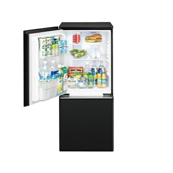 シャープSHARP《基本設置料金セット》SJ-GD14F-B冷蔵庫プラズマクラスターボトムフリーザー冷蔵庫ピュアブラック[2ドア/右開き/左開き付け替えタイプ/137L][冷蔵庫小型][SJGD14F]