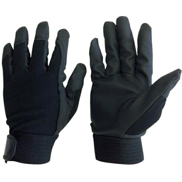 AMAGユニワールドWORKSHOMME合成皮革手袋ブラックL2510-BK-L