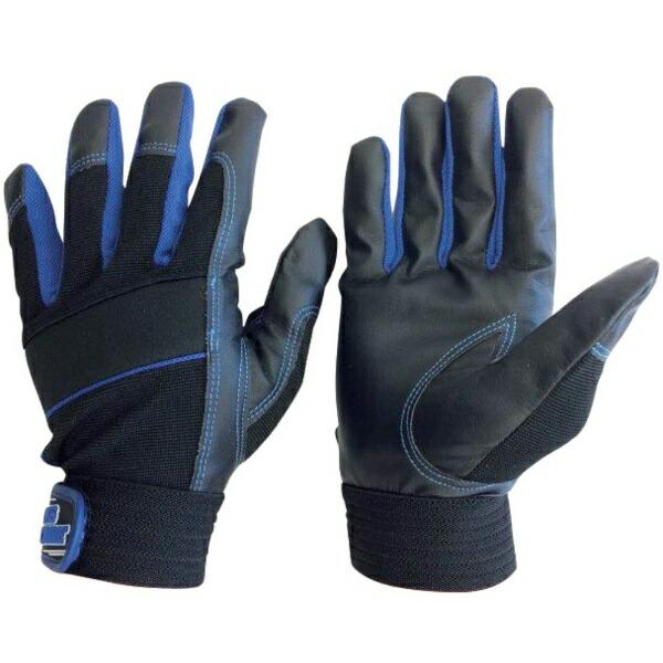 AMAGユニワールドWORKSHOMME合成皮革手袋MPファイバーブルーL2610-B-L