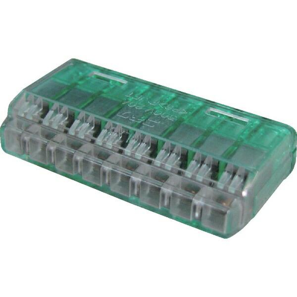 ニチフ端子工業NICHIFUニチフクイックロック差込形電線コネクタ極数8緑透明20個入QLX8