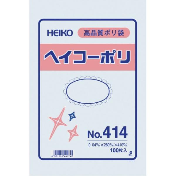 シモジマSHIMOJIMAHEIKOポリ規格袋ヘイコーポリNo.414紐なし006618400