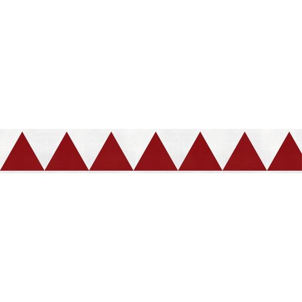 トラスコ中山TRUSCOギザギザクロステープ50mm×25m白赤GZC-5025WR
