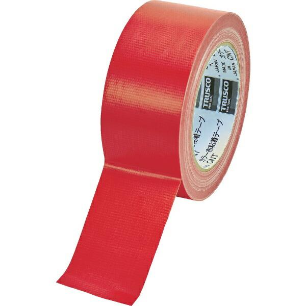 トラスコ中山TRUSCOカラー布粘着テープ幅50mm長さ25mレッドCNT-5025-R