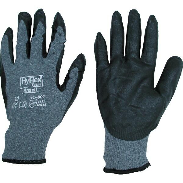 アンセルAnsellアンセル軽作業用手袋ハイフレックス11−801Lサイズ11-801-9