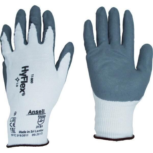 アンセルAnsellアンセル組立・作業用手袋ハイフレックス11−800Mサイズ11-800-8