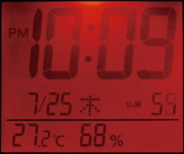 リズム時計RHYTHM目覚まし時計【フィットウェーブD218】ブラウン8RZ218SR06[デジタル/電波自動受信機能有]