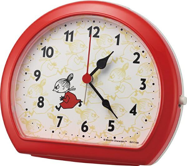 リズム時計RHYTHM目覚まし時計リトルミイ赤(白)4SE562MT01[アナログ]