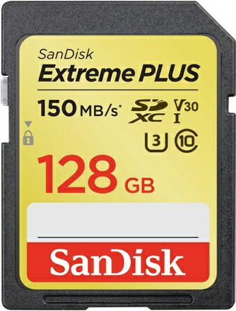 サンディスクSanDiskSDXCカードExtremePLUS(エクストリームプラス)SDSDXW5-128G-JBJCP[128GB/Class10][SDSDXW5128GJBJCP]【point_rb】