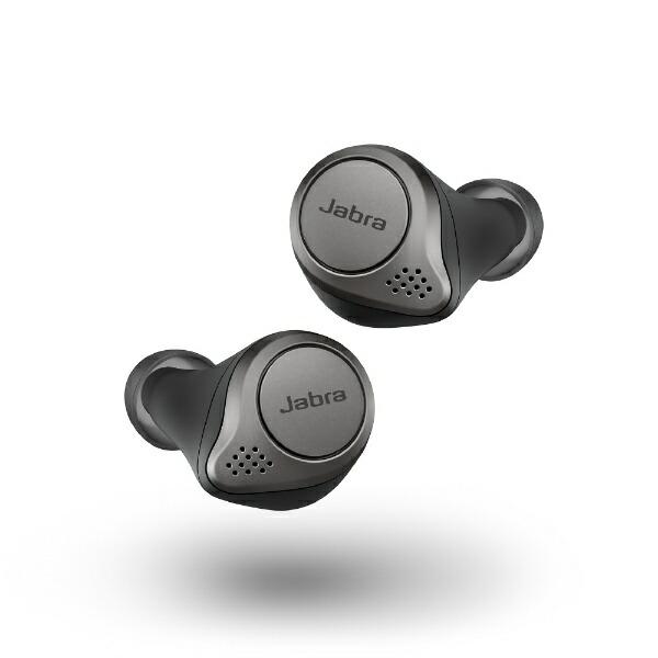 JABRAジャブラフルワイヤレスイヤホンElite75tTitaniumBlack100-99090000-40[リモコン・マイク対応/ワイヤレス(左右分離)/Bluetooth/ノイズキャンセリング対応][ELITE75T]