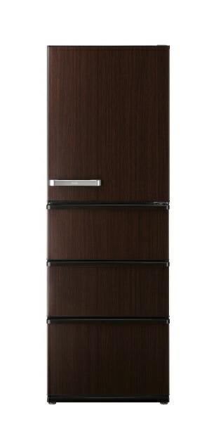 AQUAアクア《基本設置料金セット》冷蔵庫Delie(デリエ)ダークウッドブラウンAQR-V43J-T[4ドア/右開きタイプ/430L][冷蔵庫大型AQRV43J_T]