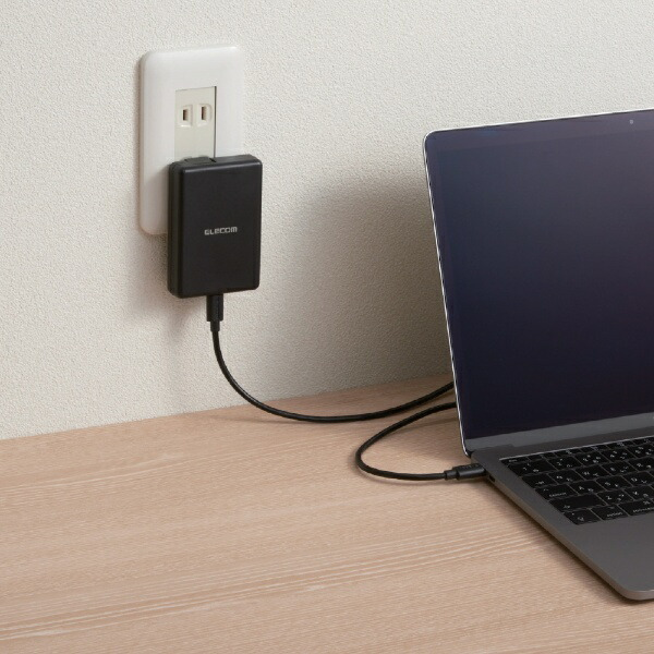 エレコムELECOMAC-USB充電器ノートPC・タブレット対応45W[1ポート:USB-C/USBPD対応]ACDC-PD0545BKブラック