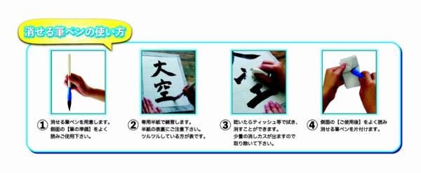 エポックケミカルEPOCHChemical[習字]消せる筆ペン3点セット657-2480青