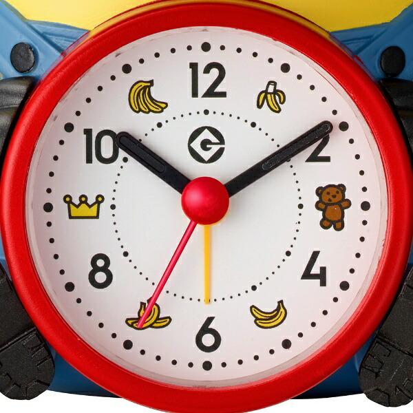 リズム時計RHYTHMおしゃべり目覚まし時計ミニオンズ黄4REA30ME33[アナログ]