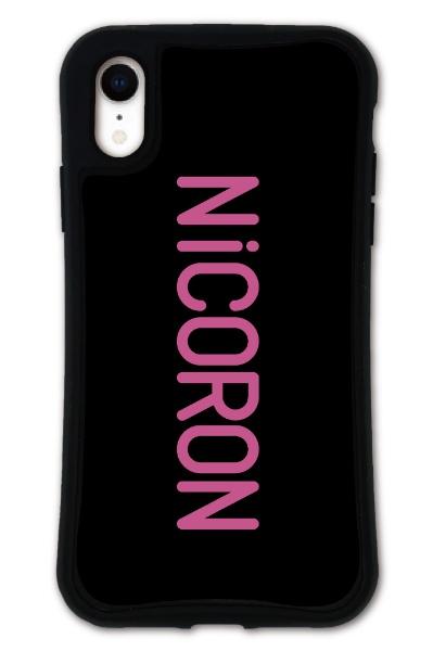 ケースオクロックiPhoneXRWAYLLY-MK×NiCORON【セット】ドレッサーロゴmkncr-set-xr-lg