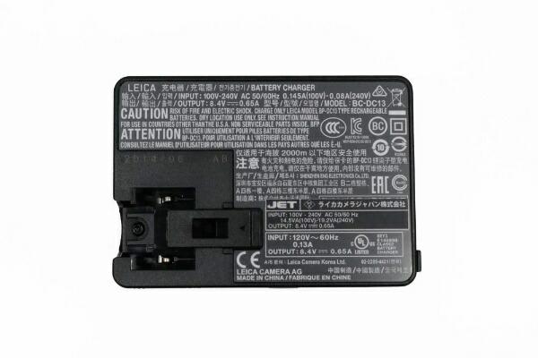ライカLeicaライカTL用バッテリーチャージャーBC-DC13(プラグなし)