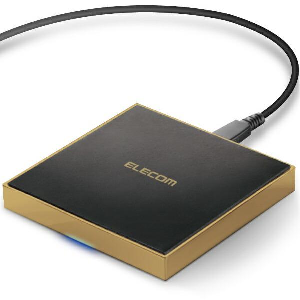 エレコムELECOMQi規格対応ワイヤレス充電器急速卓上メタル筐体ゴールドW-QA11GD[ワイヤレスのみ][WQA11GD]