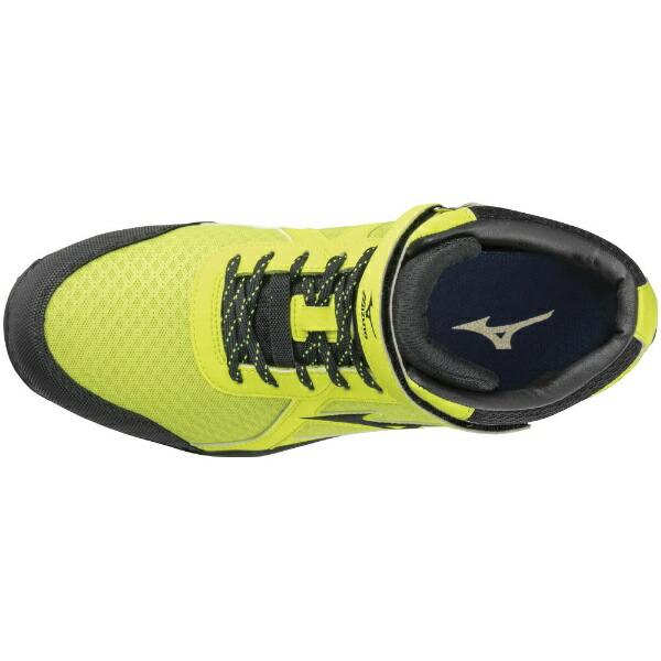 ミズノmizuno25.5cmメンズ安全靴オールマイティSD13H(イエロー×ブラック×イエロー)F1GA1905JSAA・普通作業用(A種)認定品耐滑プロテクティブスニーカー】