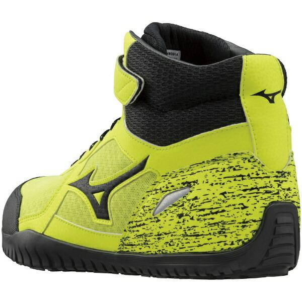 ミズノmizuno26.0cmメンズ安全靴オールマイティSD13H(イエロー×ブラック×イエロー)F1GA1905JSAA・普通作業用(A種)認定品耐滑プロテクティブスニーカー】
