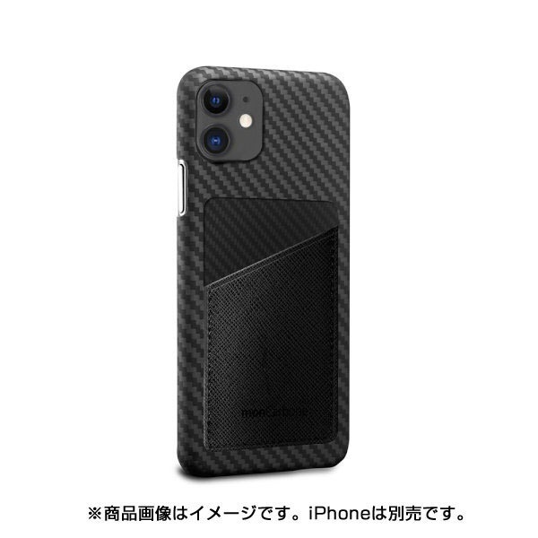 AREAエアリアMonCarbonHOVERSKINサフィアーノiPhone11フルカーボンケースHSXI02BKステルスブラック