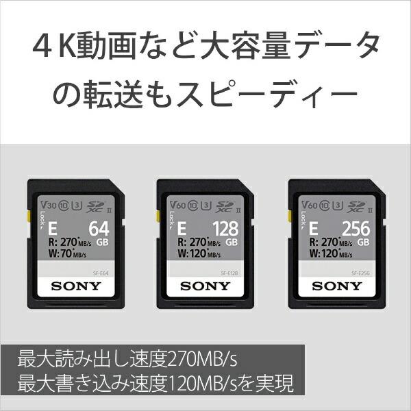 ソニーSONYSDXCカードUHS-IISF-EシリーズSF-E128[128GB/Class10][SFE128T1]