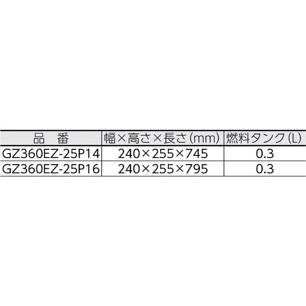 ハスクバーナゼノアHusqvarnaZenoahゼノアエンジンチェンソー(リアハンドル)GZ360EZ-25P16