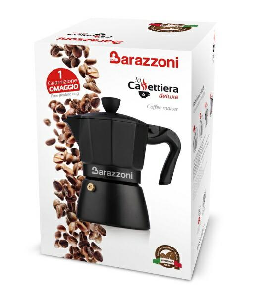 Barazzoniバラゾーニ直火用エスプレッソコーヒーメーカー3カップLaCaffettieraDeluxe830005003[830005003]