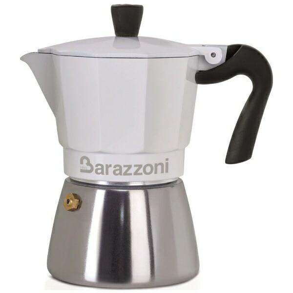 BarazzoniバラゾーニIH/直火エスプレッソコーヒーメーカー6カップLACAFFETTIERABIANCAIBRIDA830005106[830005106]