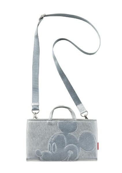 ROOTOTEルートートショルダーストラップ付長財布LTキャレットミッキー(W21×H12×マチ3cm/シルバー)4068