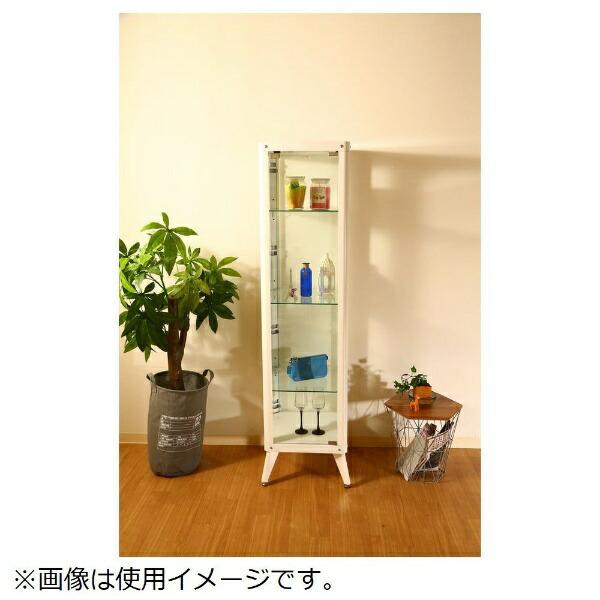 不二貿易FujiBoekiガラスコレクションケース4段ホワイト(高さ160cm)