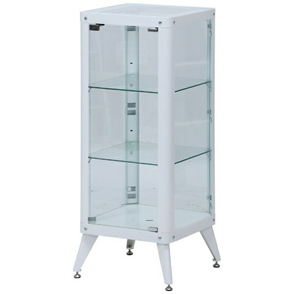 不二貿易FujiBoekiガラスコレクションケース3段ホワイト(高さ105cm)