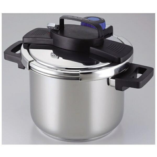 パール金属PEARLMETAL3層底1タッチレバー圧力鍋5.5LH-5389[H5389]