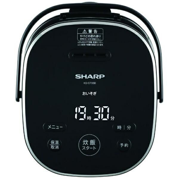 シャープSHARPKS-CF05B-B炊飯器ブラック系[3合/マイコン][KSCF05B]