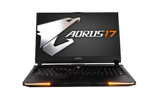 GIGABYTEギガバイトYA-9JP2452SHゲーミングノートパソコンAORUS17ブラック[17.3型/intelCorei9/HDD:2TB/SSD:1TB/メモリ:32GB/2019年12月モデル][AORUS17YA9JP2452SH]