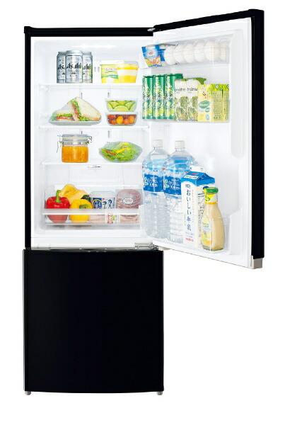東芝TOSHIBA《基本設置料金セット》GR-R15BS-K冷蔵庫BSシリーズセミマットブラック[2ドア/右開きタイプ/153L][冷蔵庫小型一人暮らしGRR15BSK]